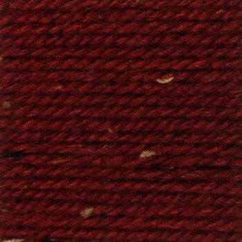 Rustic Aran Tweed Yarn - Red (400g)
