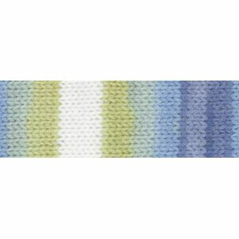 Magi-Knit Yarn - Blue, Green, White (100g)