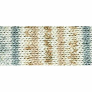 Magi-Knit Yarn - Fair Isle brown, blue, white (100g)