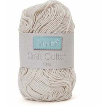 Trimits: Craft Cotton: 100g: Unbleached/Ecru