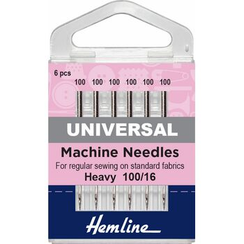 Hemline Universal Machine Needles - Heavy 100/16
