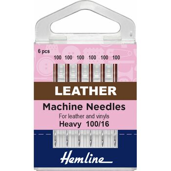 Hemline Leather Machine Needles - Heavy 100/16