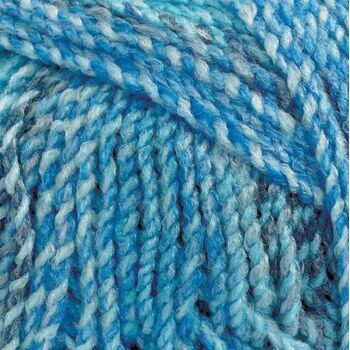 Marble Chunky Yarn - Blue Shades (200g)