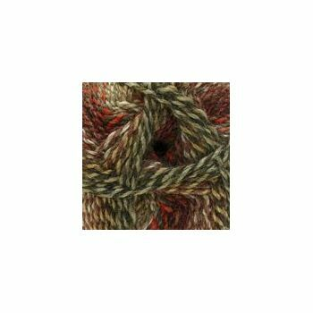 Marble DK Yarn - Red, Brown & Grey (100g)