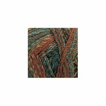 Marble Chunky Yarn - Blue and browns (200g)