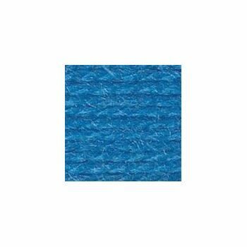 Wool Aran Yarn - Medium Blue (400g)