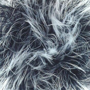 Brett Faux Fur Yarn - Black and White (100g)