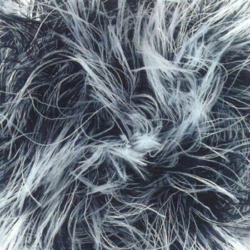 Brett Faux Fur Yarn - Black and White (100g)