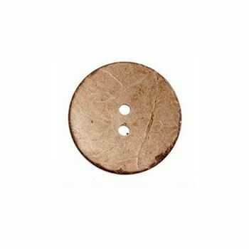 Natural coconut 2 hole button 30mm