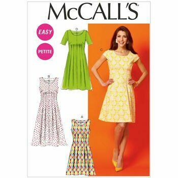 McCalls Pattern M6958 Misses\'/Miss Petite/Women\'s/Women\'s Petite Tuck-Waist Dresses