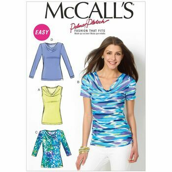 McCalls Pattern M6963 Misses\' Cowl-Neck Tops