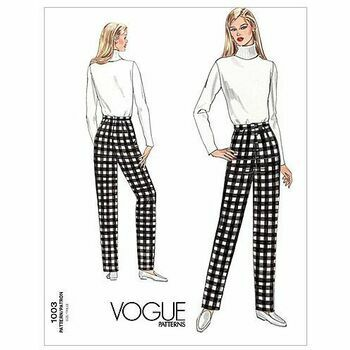 Vogue Pattern V1003 Misses\' Pants fitting Shell