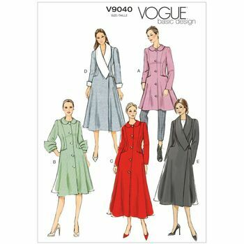 Vogue Pattern V9040 Misses' Coat