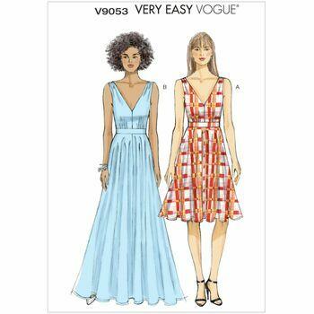 Vogue pattern V9053 Misses' Deep-V Dresses Sewing Pattern