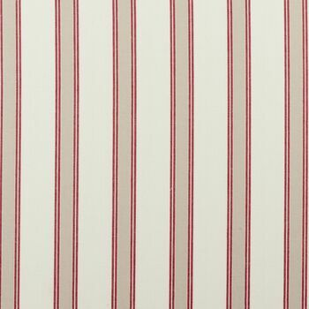 Clarke & Clarke - Ticking Stripes - Oxford Red