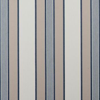 Clarke & Clarke - Ticking Stripes - Regatta Navy