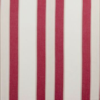 Clarke & Clarke - Ticking Stripes - Regatta Red