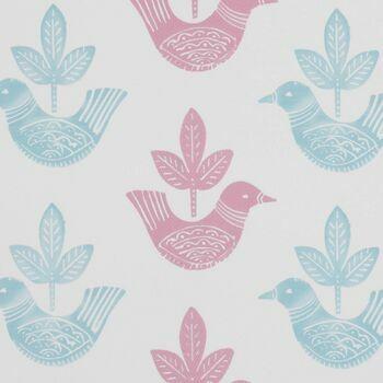 Clarke & Clarke - Storybook - Doves Pink