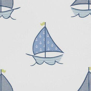 Clarke & Clarke - Storybook - Sailing Boats Blue