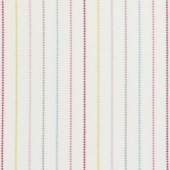 Clarke & Clarke - Storybook - Stitch Stripe Pink