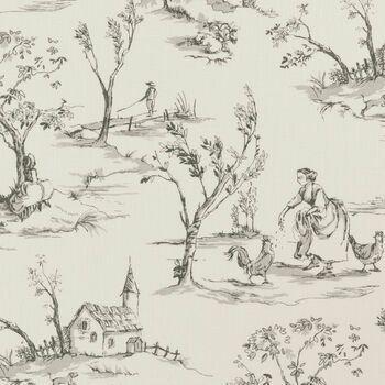 Clarke & Clarke - Clarisse Fabrics - Helena Charcoal
