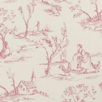 Clarke & Clarke - Clarisse Fabrics - Helena Raspberry