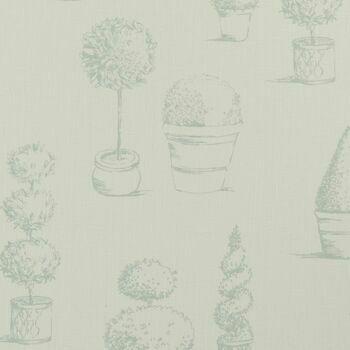 Clarke & Clarke - Clarisse Fabrics - Topiary Duckegg