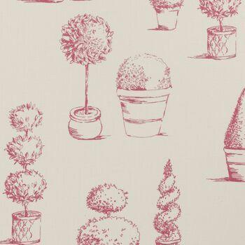 Clarke & Clarke - Clarisse Fabrics - Topiary Raspberry