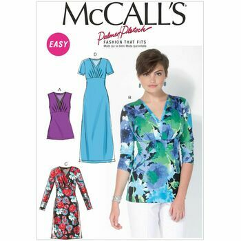 McCalls pattern M7092 Misses\' Surplice Tops and Dresses