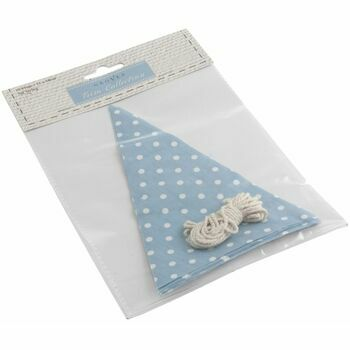 Make-Your-Own Bunting Kit: Blue with White Spot