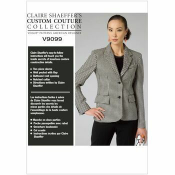 Vogue pattern V9099 Misses' Two-Button Blazer