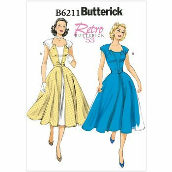 Butterick Pattern B6211 Misses' Pullover Wrap Dress and Belt