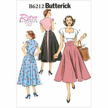 Butterick Pattern B6212 Misses\' Pullover Back-Wrap Dress