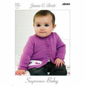 James C Brett DK Knitting Pattern JB083 (Baby Cardigan)