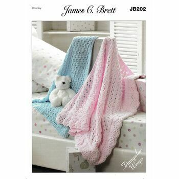 James C. Brett Pattern JB202 Chunky Baby Blanket