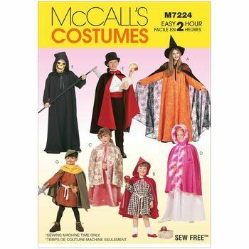 McCalls Pattern M7224 Children\'s Cape and Tunic Costumes