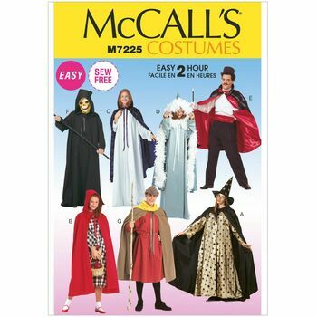 McCalls Pattern M7225 Misses'/Men's Cape and Tunic Costumes
