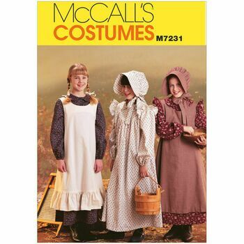 McCalls Pattern M7231 Girls' Pioneer Costumes