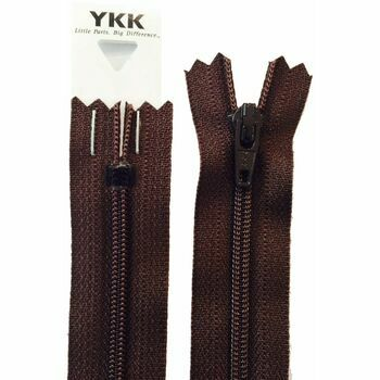 YKK Nylon Zip - Dress & Skirt in Brown (10cm)