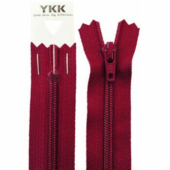 YKK Nylon Zip - Dress & Skirt in Dark Wine (10cm)