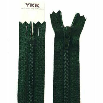 YKK Nylon Zip - Dress & Skirt in Forest Green (10cm)