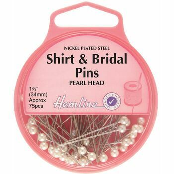 Hemline 34mm Shirt & Bridal Pins (75pcs)
