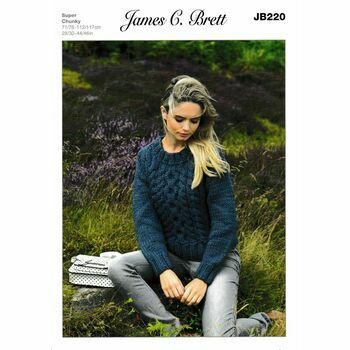 James C Brett Super Chunky Knitting Pattern JB220 (Womens Sweater)
