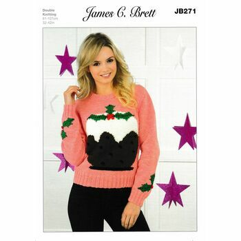 James C Brett DK Knitting Pattern JB271 (Christmas Sweater)