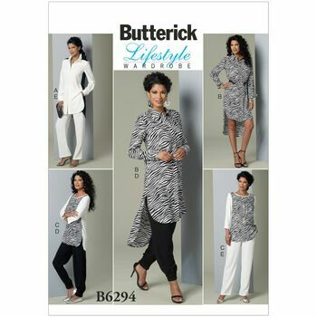 Butterick B6294 Tunic And Pants Zebra Style Pattern