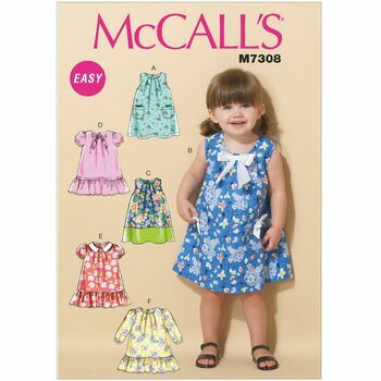 McCall's Sewing Pattern M7308 (Toddlers Dresses)