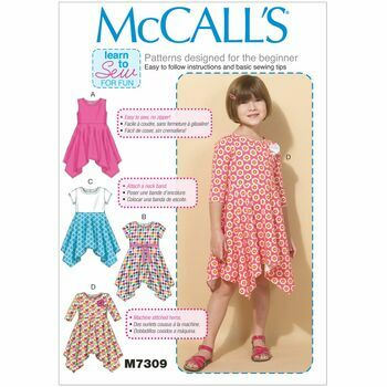 McCall\'s Sewing Pattern M7309 (Girls Dresses)