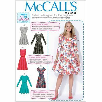 McCall's Sewing Pattern M7313 (Misses/Womens Dresses)