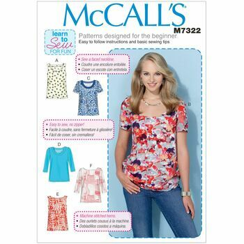 McCall\'s Sewing Pattern M7322 Misses Tops