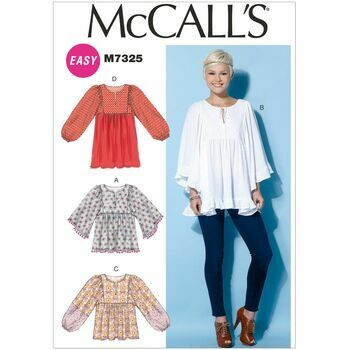 McCall\'s Sewing Pattern M7325 Misses Tops & Tunic